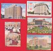 Lot of 5 San Antonio Texas Linen Postcard 1930s - 1940s