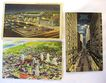 3 1940s Linen Kansas City Postcards Petticoat Lane Union Station
