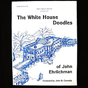 The White House Doodles John Ehrlichman Watergate Autographed / Signed