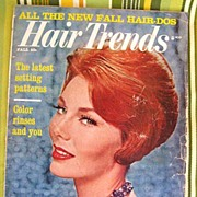 Fall 1962 Hair Trends Magazine  1960s Hair Styles Hair-Dos
