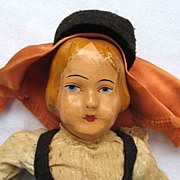 SALE Vintage European or Immigrant Composition Doll
