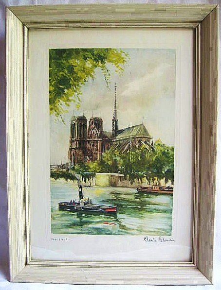 Signed Numbered Charles Blondin Print of Notre Dame de Paris