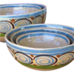 Five Tlaquepaque Mexico Pottery Nesting Bowls