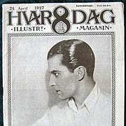 Hvar 8 Dag Swedish Magazine w. Ramon Novarro Cover April 1927