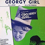 Lynn Redgrave Georgy Girl Sheet Music 1966 by Springfield & Dale