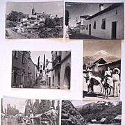 SALE 6 Vintage Mexican Real Photo Postcards Cuernavaca Popocatepetl Xochimilco Yanez RPPC