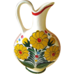 Large Floral Pattern Mexican Pottery Pitcher / Vase