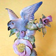 SALE Exquisite Vintage Porcelain Bird / Floral Figurine