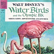 Walt Disney's Water Birds & Olympic Elk Flamingo Cover Dell 1956