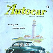 British Auto Magazine The Autocar 27 March 1953 The Morris Oxford