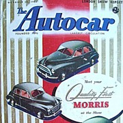 British Auto Magazine The Autocar 23 October 1953 38th London Car Show
