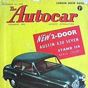 British Auto Magazine The Autocar 16 October 1953 Austin A30 Seven