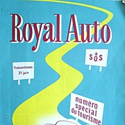 Royal Auto June 1953 No. 6 Rare Belgium Auto Magazine