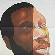 1960s Milton Glaser Poster of Humorist & Civil Rights Activist Dick Gregory
