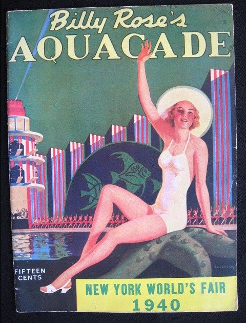 Program for Billy Rose's Aquacade New York World 's Fair 1940