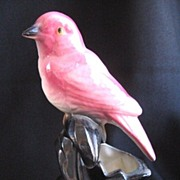 Vintage Modernist Ceramic Pink Bird Planter