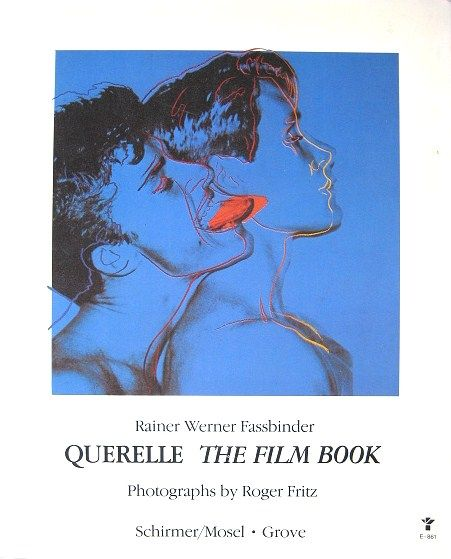 Fassbinder Querelle The Film Book Warhol Cover with Brad Davis Jeanne Moreau