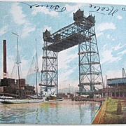 SALE Chicago South Halsted Street Lift Bridge Undivided Back 1905
