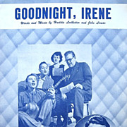 Goodnight, Irene Sheet Music 1950 w. The Weavers Pete Seeger Lead Belly Gordon Jenkins