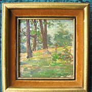 REDUCED Original Impressionist Alice Beach Winter Oil Painting Forest Landscape