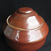SALE Oriental Pottery Ginger Jar / Tea Caddy