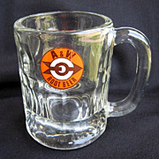 Vintage A&W Root Beer Mug Arrow & Bull's Eye Logo