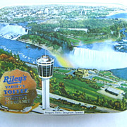 Niagara Falls Seagram Tower Riley's Toffee Tin Halifax England