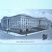 Patent Office Washington D.C. Lithograph Postcard c. 1900