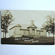 Rare Prosper Minnesota Public School Real Photo Postcard  1908 RPPC