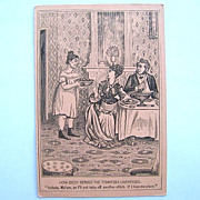 Risque Comic Biddy Victorian Trade Card Great Atlantic & Pacific Tea Co. 1880s