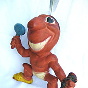 SALE Cleveland Indians Chief Wahoo Rempel Rubber Squeak Toy 1949