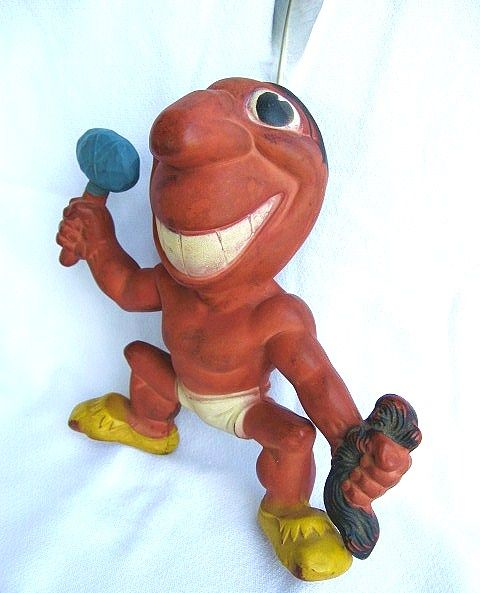 Cleveland Indians Chief Wahoo Rempel Rubber Squeak Toy 1949