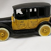 Cast Iron Yellow Cab Car