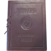 Leather Bound 1927 Harvard Class Day Program