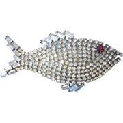 Adorable and Large  Vintage Fish Brooch