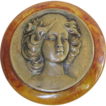 Bakelite Art Nouveau Large Brooch