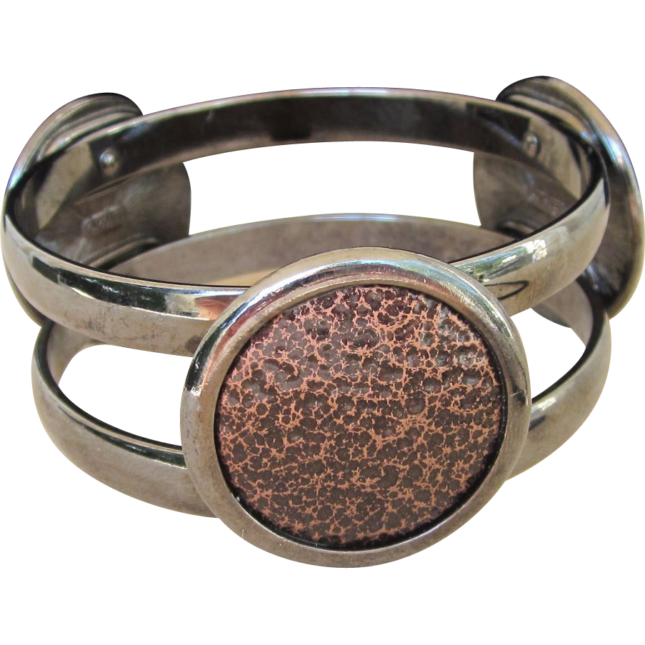 MONET- Gunmetal Runway Bangle Bracelet