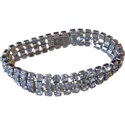 WEISS- Triple Layer Signed Rhinestone Bracelet