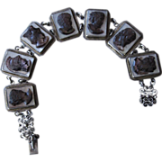Silver and Mother of Pearl Vintage Bracelet
