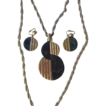 TRIFARI- Famous Bakelite Pendant Necklace and Earrings
