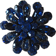 Stunning Blue Vintage Brooch