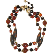 Vendome- Stunning Unique Glass Beaded Vintage Necklace