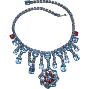 Brilliant Dramatic Rhinestone Collar Runway Necklace