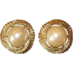 Donald Stannard- Vintage Large Faux Pearl Earrings