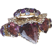 Monumental Purple Designer Runway Bracelet