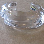 Exceptional Vintage Chunky Clear Lucite Cuff Bracelet