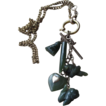 Victorian Watch Chain Jade Fob and Charm Necklace