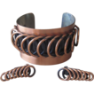 Renoir- Signed Chunky Vintage Copper Cuff Bracelet and Earrings
