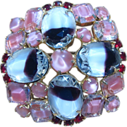 Unique Givre Rhinestone Vintage Brooch