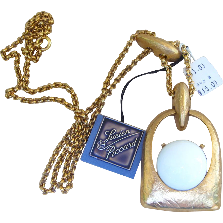 Lucien piccard vintage original tag bold necklace from for Best place to sell gold jewelry in chicago